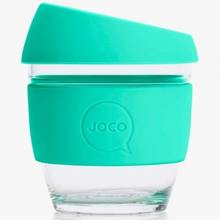 JOCO Glass Reusable Coffee Cup 118ml 4oz - Vintage Green