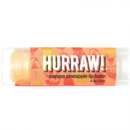 Hurraw! Vegan Lip Balm - Papaya Pineapple