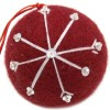 Fairtrade Felt Christmas Decoration - Ball with Snowflake