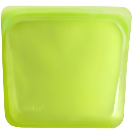 Stasher Silicone Storage Bag Sandwich Size 450ml - Lime