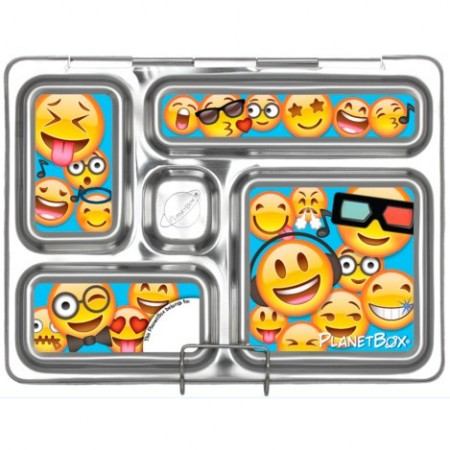 PlanetBox Rover Kit EMOTICONS (Box, Containers, Magnets, Carry Bag)