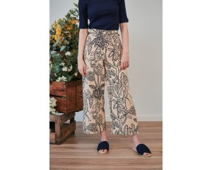 Farn Wide Leg Pant in Daintree Print