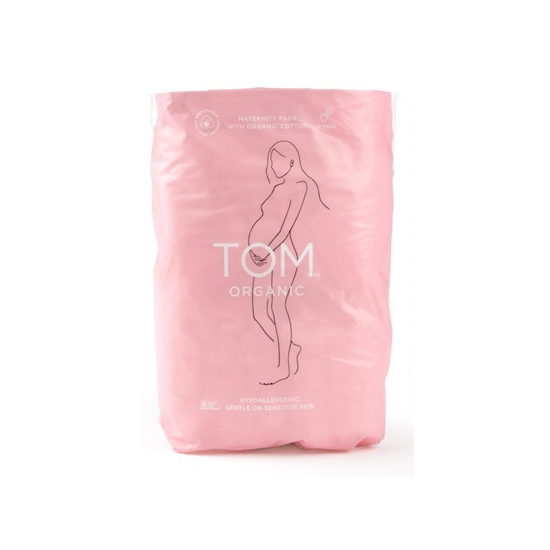 Tom Organic Cotton Maternity Pads 12pk