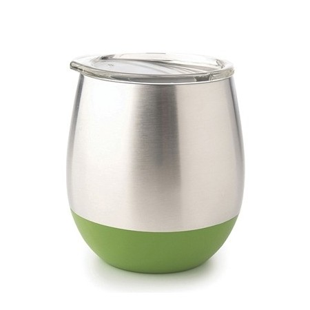 U Konserve Insulated Stainless Steel Wine Tumbler 8oz 236ml - Grass