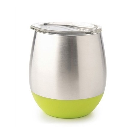 U Konserve Insulated Stainless Steel Wine Tumbler 8oz 236ml - Lime