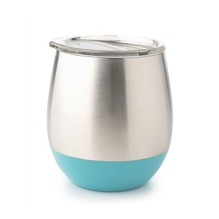 U Konserve Insulated Stainless Steel Wine Tumbler 8oz 236ml - Turquoise