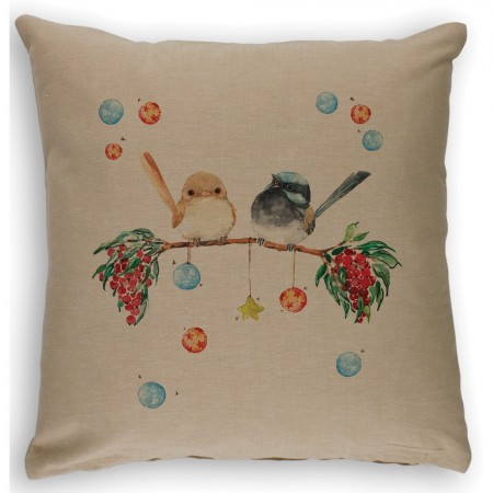The Linen Press Christmas Cushion Cover - Christmas Joy