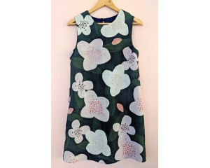 Seagrass Design Sleeveless Shift Dress Trees for Bees