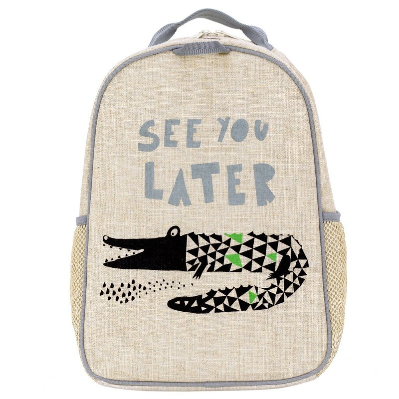 SoYoung Grade Uncoated Linen Backpack - Wee Gallery Alligator
