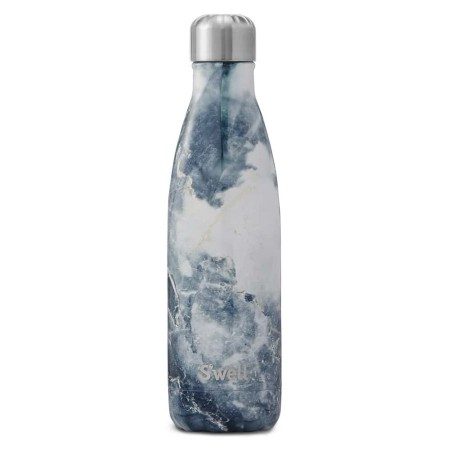 S'Well Insulated Stainless Steel Water Bottle 500ml - Blue Granite