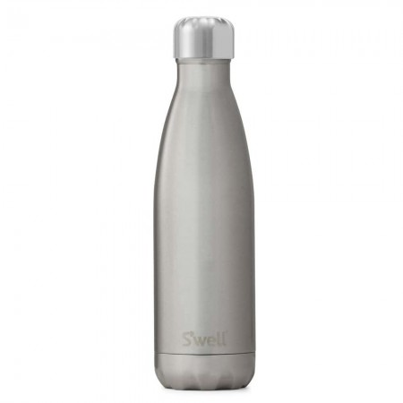 S'Well Insulated Stainless Steel Water Bottle 500ml - Silver Lining