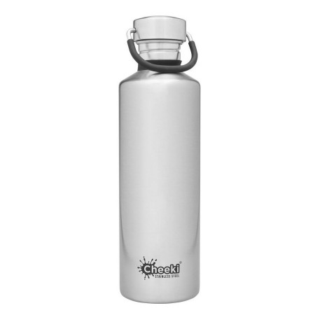Cheeki 600ml Stainless Steel Insulated Bottle - Silver