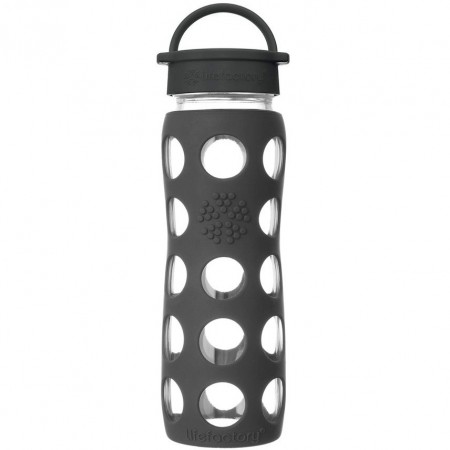 Lifefactory Glass Bottle 22oz 650ml - Onyx Black