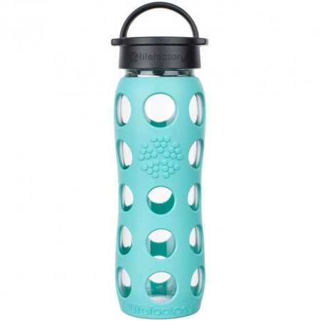 Lifefactory Glass Bottle 22oz 650ml - Sea Green