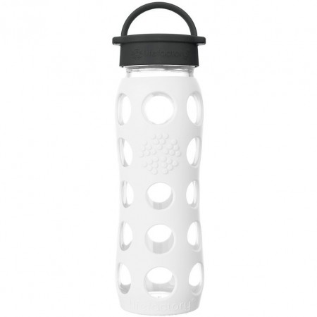 Lifefactory Glass Bottle 22oz 650ml - Arctic White