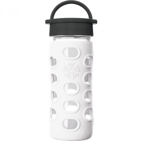 Lifefactory Glass Bottle 12oz 350ml - Arctic White