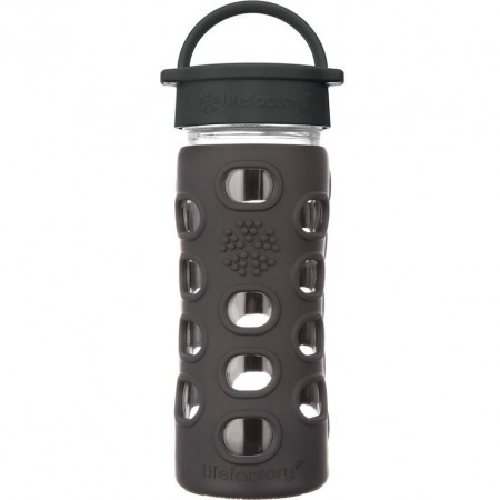 Lifefactory Glass Bottle 12oz 350ml - Onyx Black