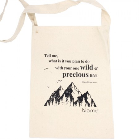 Biome Organic Cotton Slim Tote Bag - Precious Life