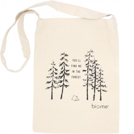 Biome Organic Cotton Slim Tote Bag - You'll Find Me in the Forest