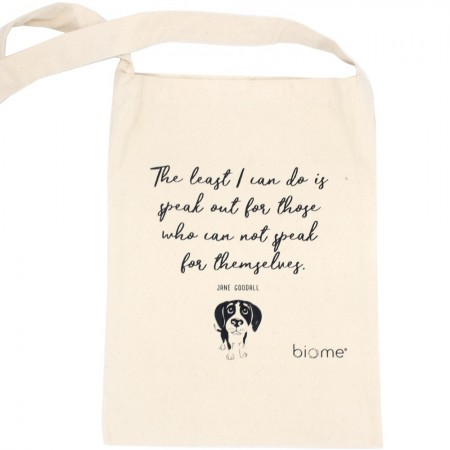 Biome Organic Cotton Slim Tote Bag - Jane Goodall
