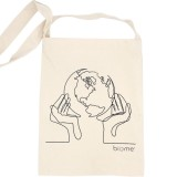 Biome Organic Cotton Slim Tote Bag - World in Our Hands