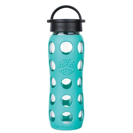 Lifefactory Glass Bottle 16oz 475ml - Sea Green