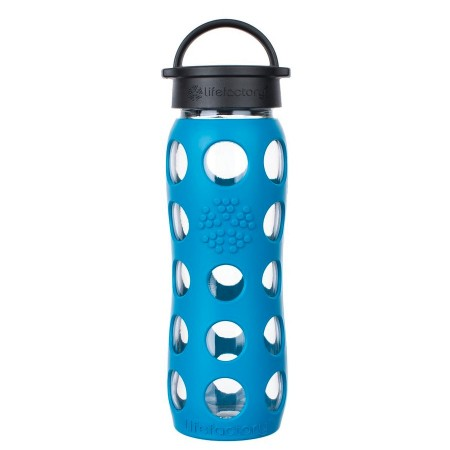 Lifefactory Glass Bottle 16oz 475ml - Teal Lake