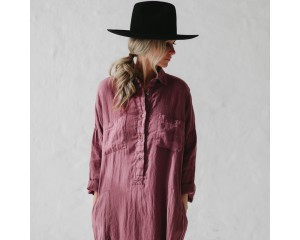Seaside Tones Shirt Dress Mauve