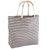 Dharma Door Jute Shopper Indigo Stripe