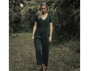Tasi Travels Vagabond Jumpsuit Moss