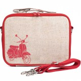 SoYoung Insulated Lunch Box Raw Linen - Red Scooter