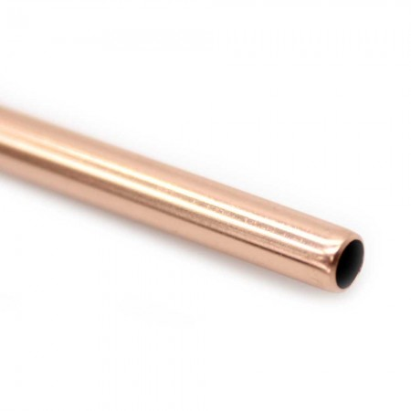 Straw Rose Gold Bent 6mm