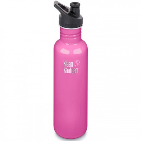 Klean Kanteen Classic Stainless Steel Water Bottle 27oz 800ml - Wild Orchid (Klean Coat)