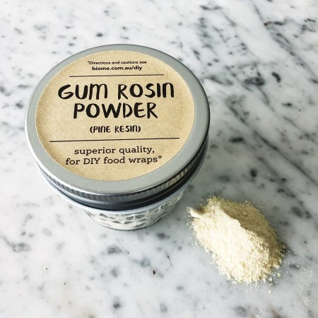 Powdered Gum Rosin in Glass Jar 50g