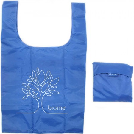 Biome RPET Foldable Shopping Bag - Blue