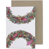 Oh Crumbs Art Greeting Card - Blossom Wreath