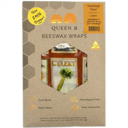 Queen B Beeswax Sourdough Saver Wrap (Single) - Colour Pattern