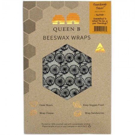 Queen B Beeswax Sourdough Saver Wrap (Single) - Neutral Pattern