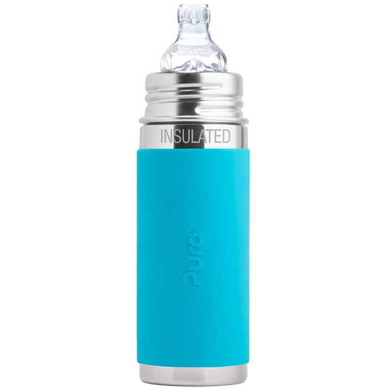 Pura Kiki Stainless Steel Insulated Toddler Sippy Cup 260ml - Aqua