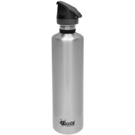 Cheeki 1L Active Classic Water Bottle - Silver