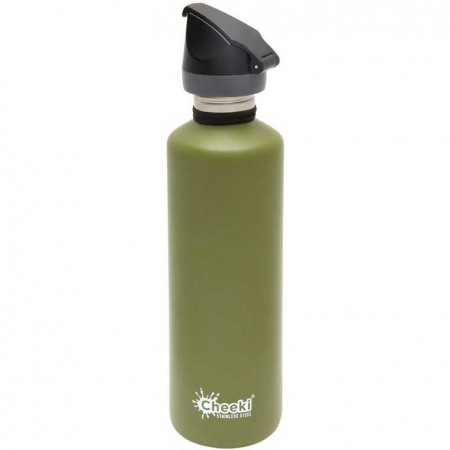 Cheeki 750ml Active Classic Water Bottle - Khaki