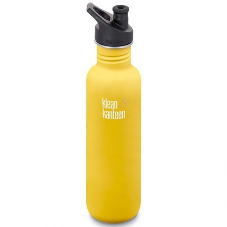 Klean Kanteen Classic Stainless Steel Water Bottle 27oz 800ml - Lemon (Klean Coat)
