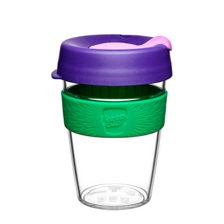 KeepCup Medium Clear Plastic Coffee Cup 12oz (355ml) - Spring