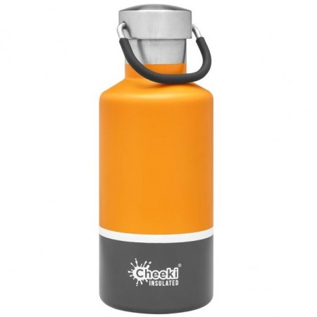 Cheeki 400ml Stainless Steel Insulated Bottle - Sunshine Grey
