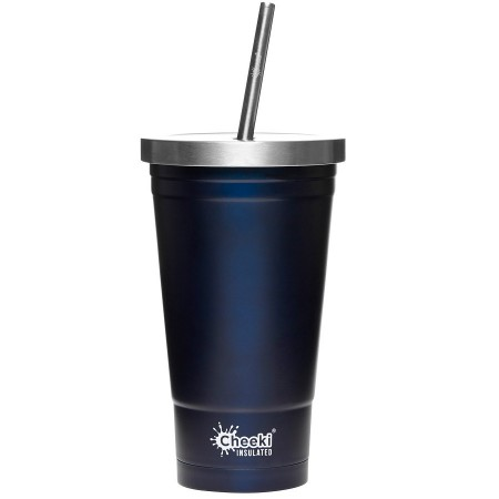 Cheeki 500ml Insulated Stainless Steel Tumbler with Straw - Ocean