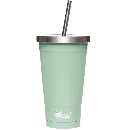 Cheeki Insulated Stainless Steel Tumbler with Straw 500ml - Pistachio
