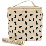 SoYoung Large Raw Linen Insulated Cooler Bag - Natural Block