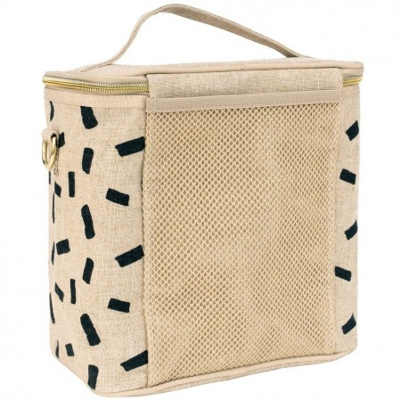 SoYoung Large Insulated Cooler Bag - Natural Block Raw Linen