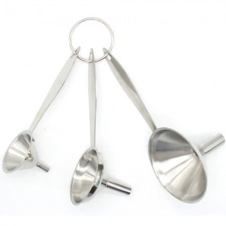Stainless Steel Funnels 304 grade - Set of 3