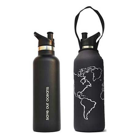 BBBYO Insulated Traveller Bottle with Cover 750ml - Globe